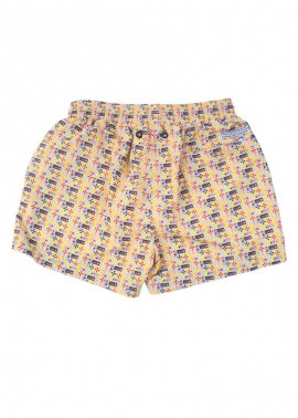 Balmoral Boys Beach Board Shorts - Flat Back - The Rocks Push