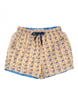 Balmoral Boys Beach Board Shorts - Flat Front- The Rocks Push