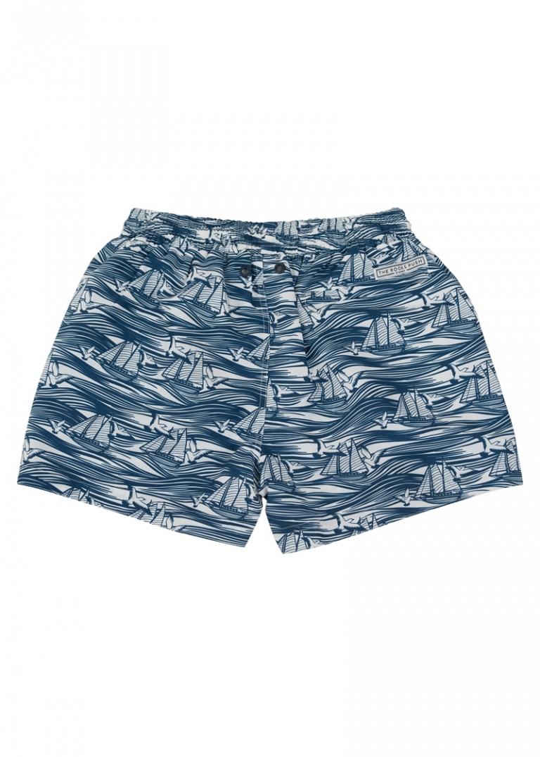 boys board shorts Balmoral Australian Boys Boats Waves - Flat Back - The Rocks Push