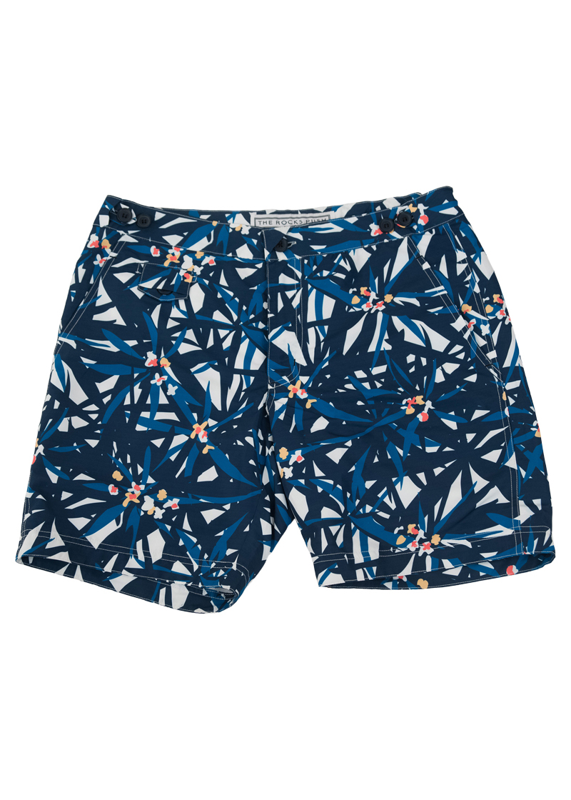 de50c1b923 Tama Hibiscus Mid Length Board Shorts - The Rocks Push