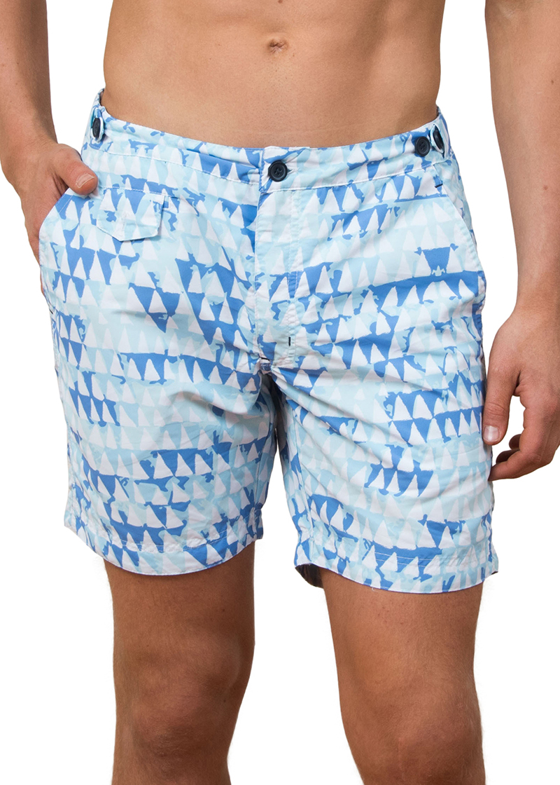 12dc1e8a60 Tama Triangles Mid Length Board Shorts - The Rocks Push